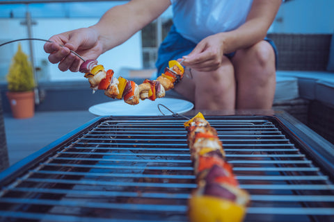 Flexible skewers perfect for bbq in any type of grill