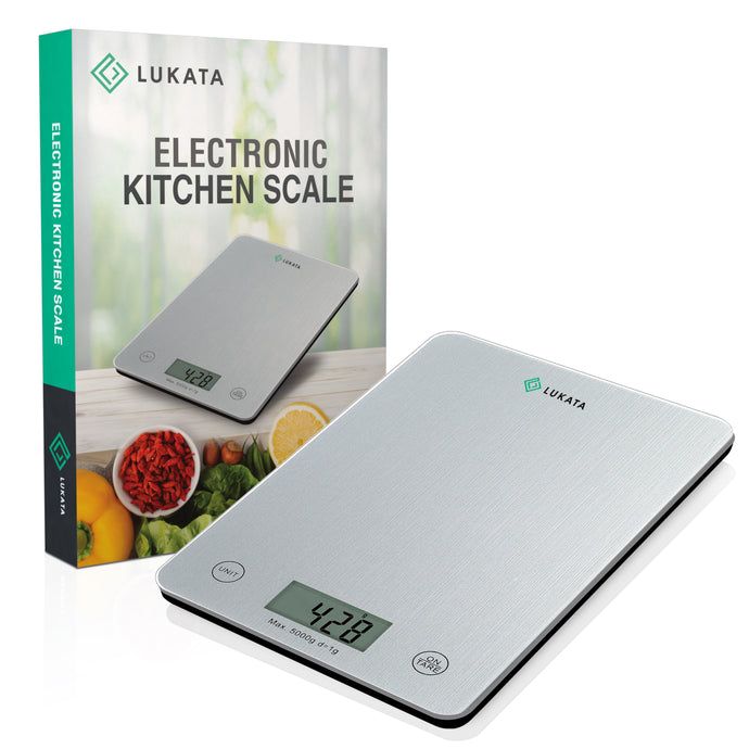 Lukata Kitchen Scale - Multifunctional Food Scale, Cooking & Baking - Precision Tempered Glass Electronic Weighing Scale in Grams, oz, lb & ml - Lukata LTD