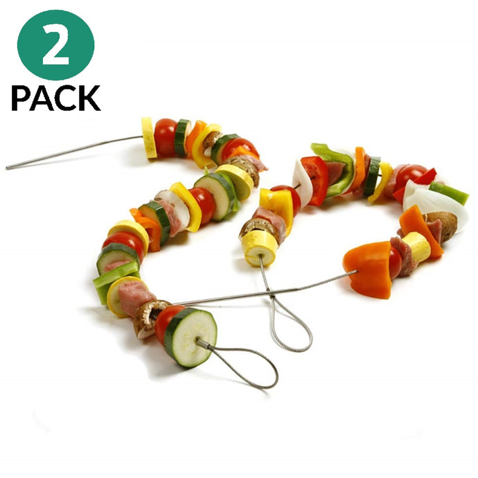 Lukata Flexible Skewers Stainless Steel – Set of 2 - Kamado, Big Green Egg, Weber Skewers - Lukata LTD