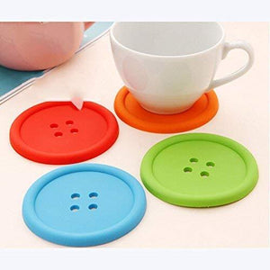 2148  Button Coasters Coffee Mat Pads Place Mat Holder Tea Cup Cushion - DeoDap