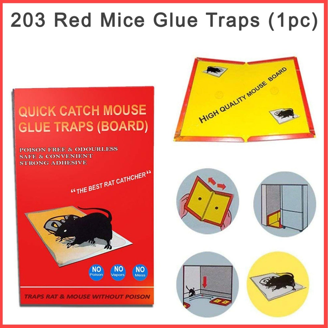 0203 Red Mice Glue Traps (Pack of 15)