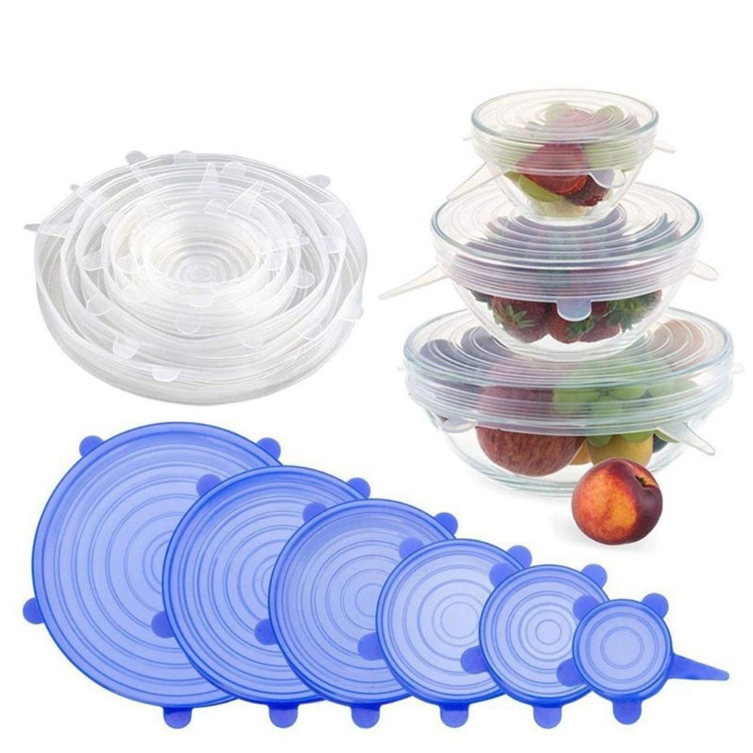 2118 Silicone Lid Set, Silicon lids for containers, Silicon Stretchable lids, Silicone lids and Cover - DeoDap