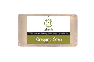 Powerful Natural Cleaning Face & Body Bar Soap With Oregano Oil for Deep Skin Cleansing, infections, Athletes foot, rashes 3.4 oz / 100gr