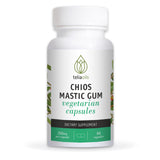 Teliaoils Mastic Gum Capsules - Natural Gut Health Supplement- Potent Greek Mastiha Resin From Chios - Super Effective Aid For Digestive Relief- Organic Gastrointestinal Health Remedy - 60 Caps