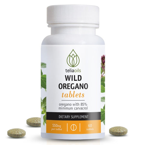 Wild Oregano Oil Tablets - Super Strength 550mg, 60 tabs