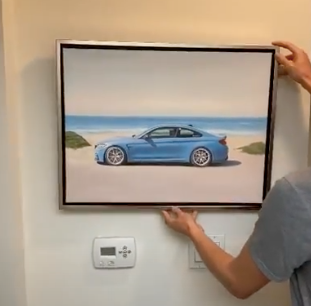 Hand painted car paintings