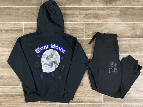 Black  -Trap Rock Hoodie & Jogger Set