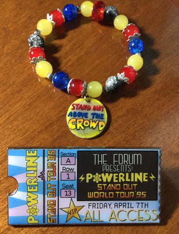 STAND OUT VIP POWERLINE TICKET PIN & BRACELET SET