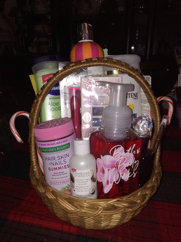 Small Custom Girls Gift Basket