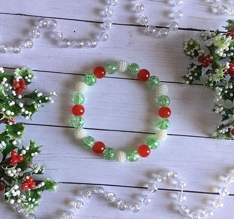 Holly Jolly Stretch Bracelet