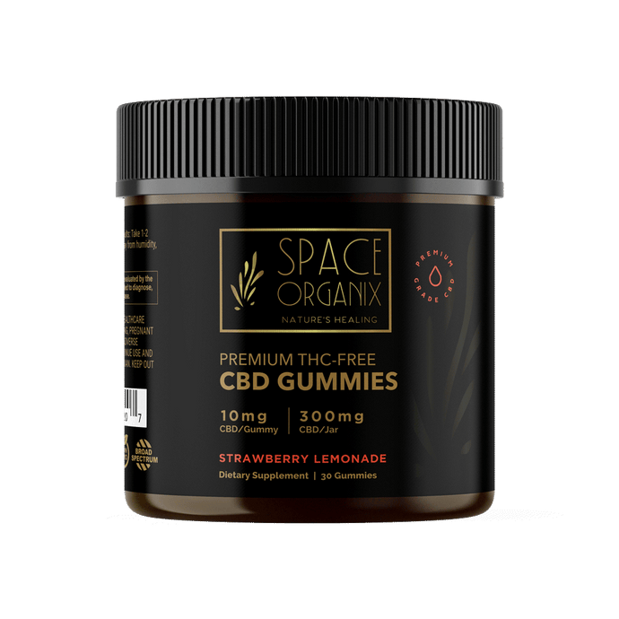 300mg CBD Vegan Gummies (Strawberry Lemonade) - Space Organix
