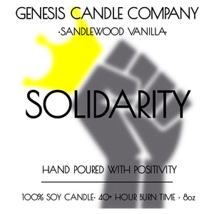 SOLIDARITY. - Genesis Candle Company
