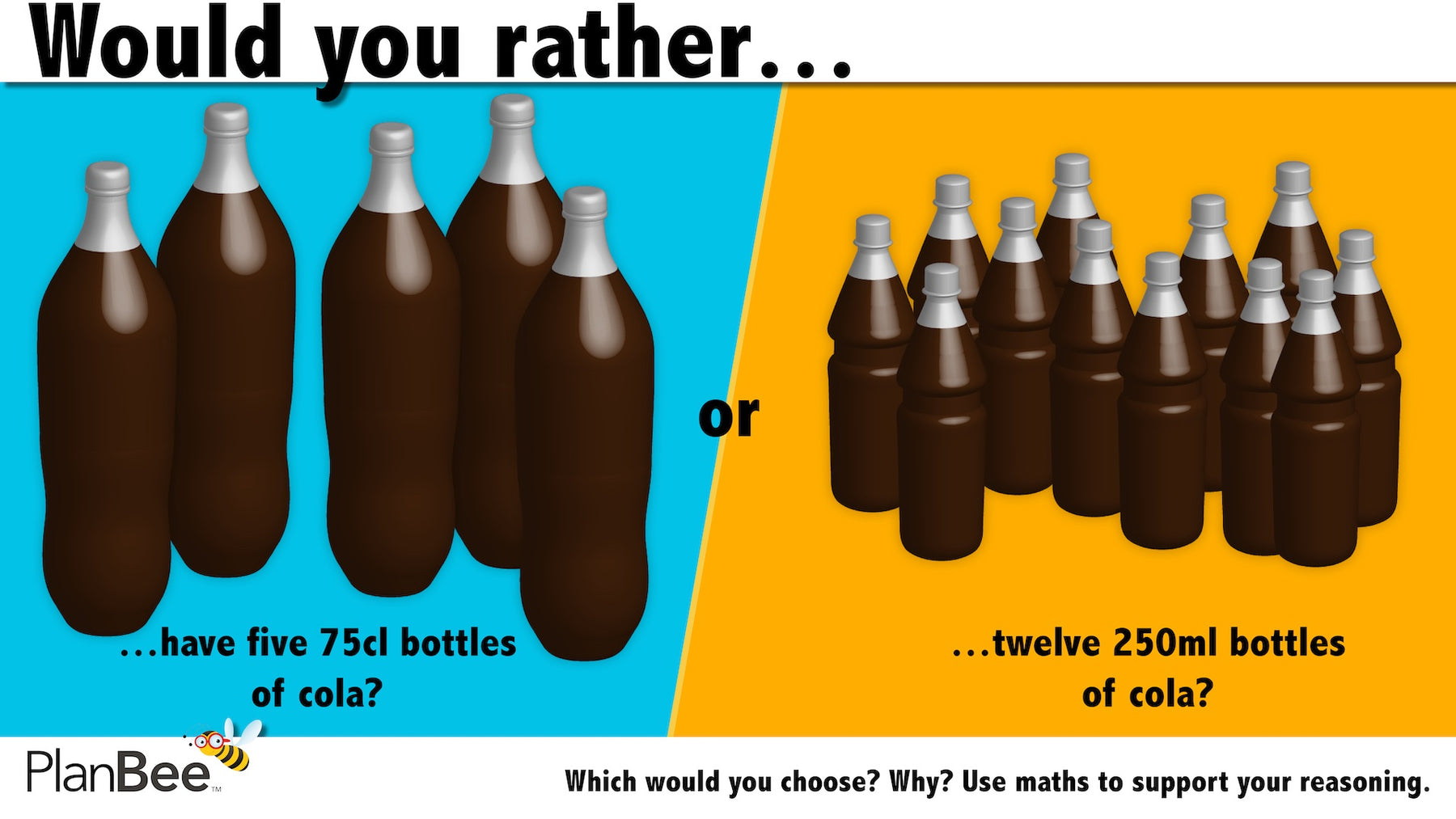 Would you rather…? Maths reasoning questions № 1