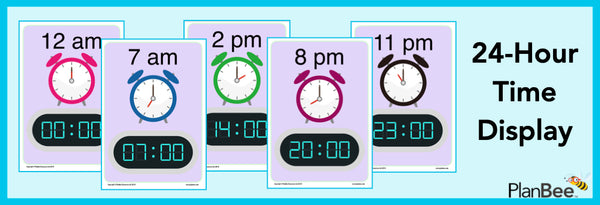 PlanBee 24 hour time display
