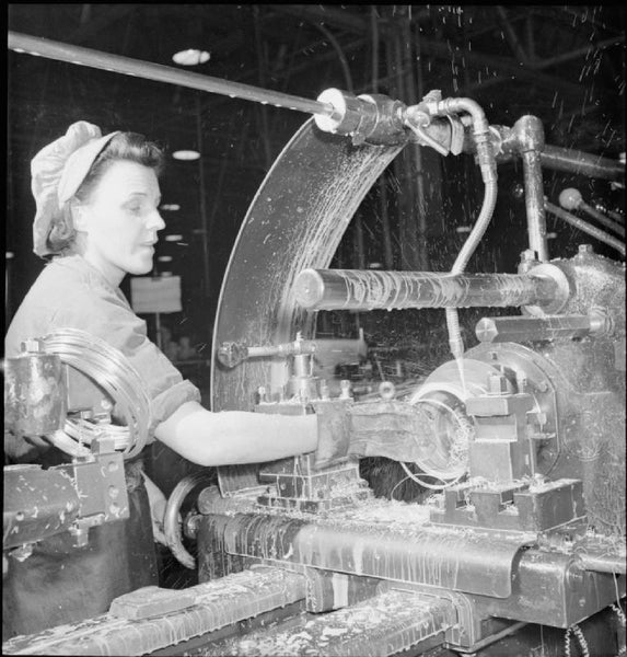 women working in an aircraft factory