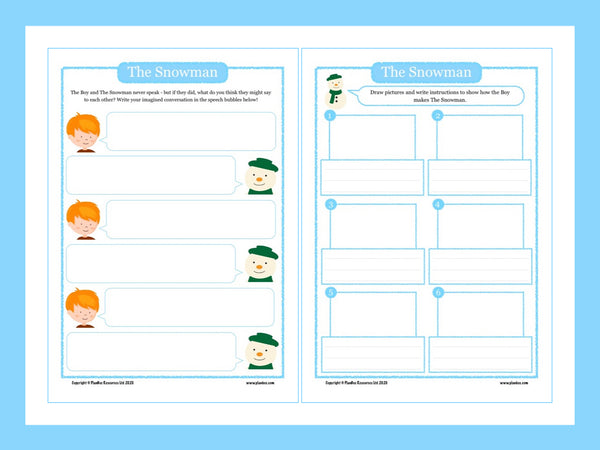 The Snowman activity sheets