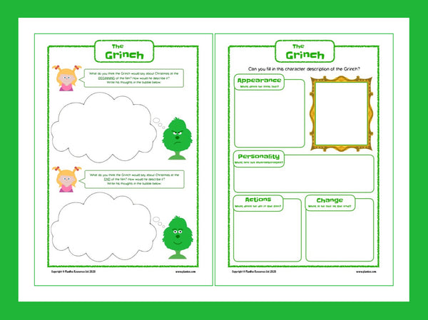 The grinch activity sheets