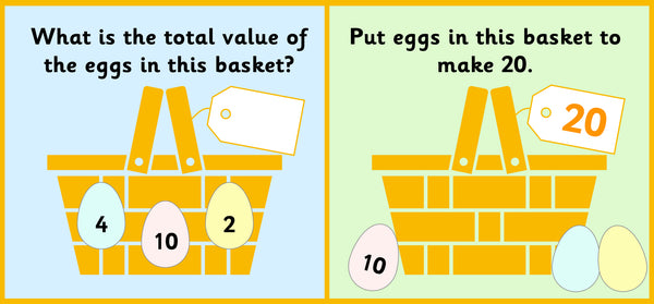 Easter number challenge activity