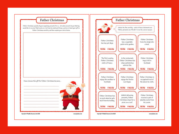Father Christmas Activity Sheet