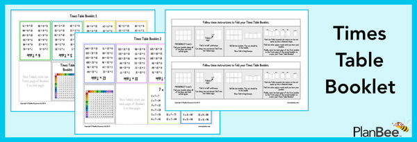 Free Times Table Booklet by PlanBee