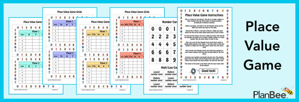 Free Place Value Game by PlanBee