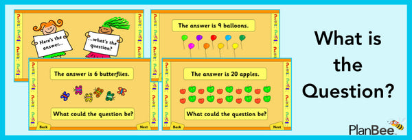 Free what is the question maths tasks by PlanBee