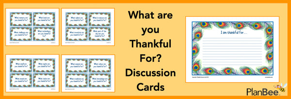 thankful for discussion cards