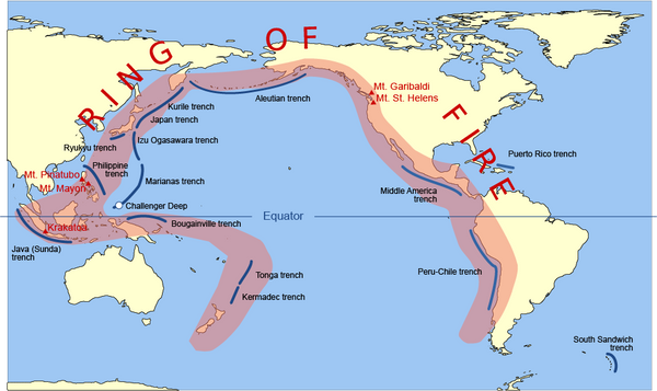 Facts about Volcanoes - the Ring of Fire