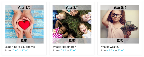 Selection of PlanBee's Fulfilled Lives lesson packs
