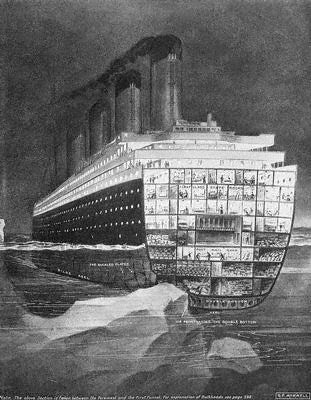 Titanic Facts KS2 - Titanic striking the iceberg