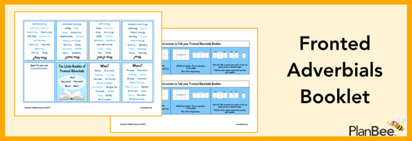 PlanBee Fronted Adverbial Booklet