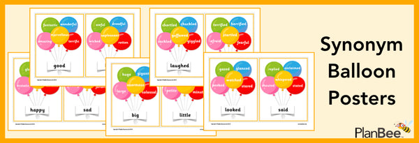 PlanBee Synonym Balloon Posters