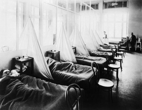 Hospital patients in 1918
