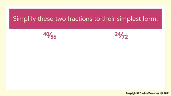 Question 13 - fractions