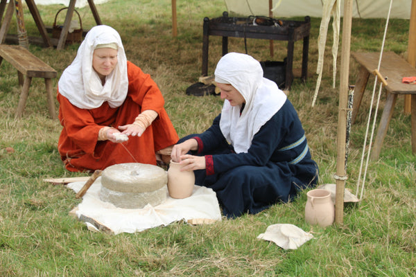 Viking Facts for KS2 - Viking Women Making Flour