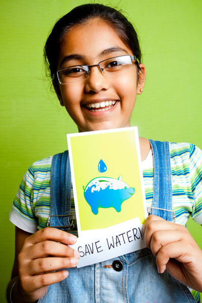 Create reminders for saving water