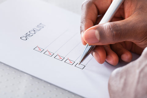Creating a planning checklist can help improve work life balance