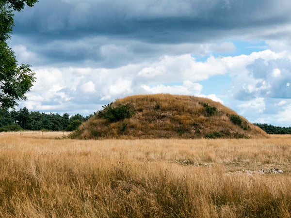 A large mound at the Sutton Hoo site