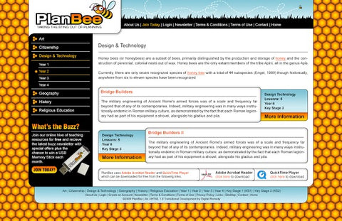 The PlanBee Website Verson 1