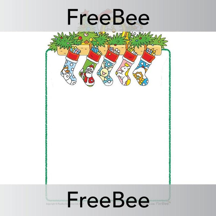 PlanBee Christmas Stockings | Writing Frames | Free teaching resources