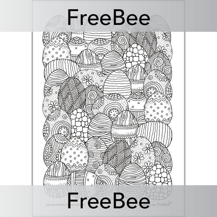 PlanBee Free Easter Colouring Pages | Easter Templates by PlanBee
