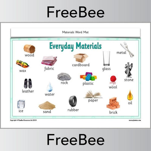 PlanBee FREE Materials Word Mat KS1 by PlanBee