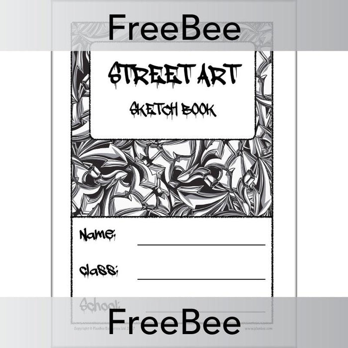 Street Art Sketch Book Cover