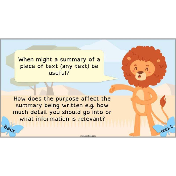PlanBee The Butterfly Lion Planning KS2 | Year 5 English Lesson Plans