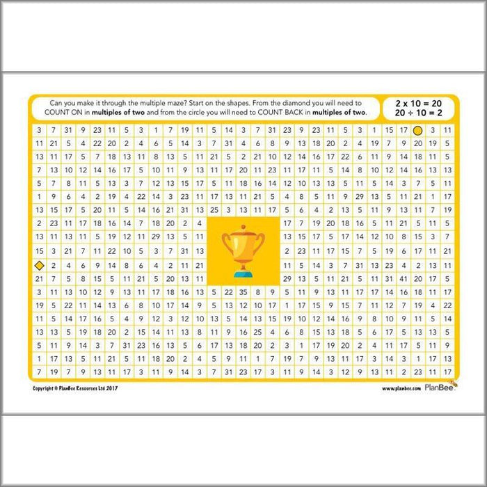 PlanBee KS2 Maths Home Learning Activites for Year 3 & Year 4