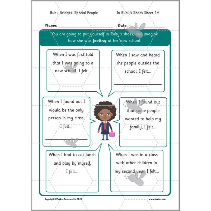 PlanBee Ruby Bridges Lesson KS1 | Special People Resource by PlanBee