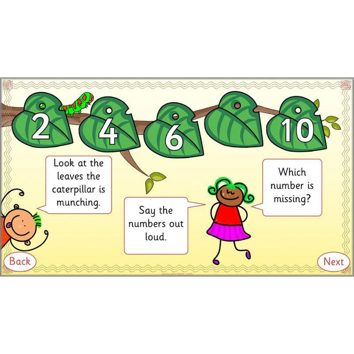 Let's count in twos, fives and tens