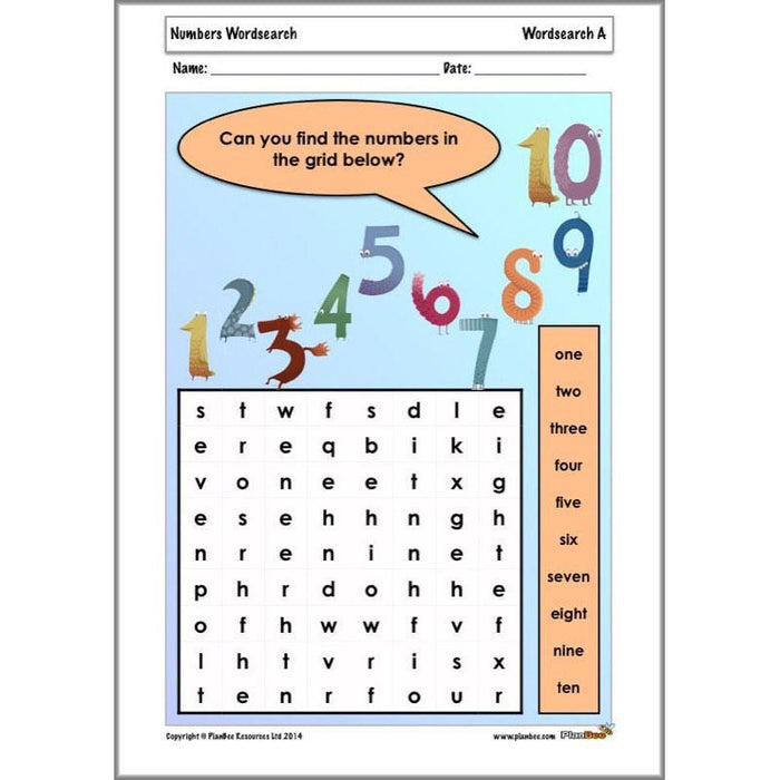 PlanBee KS1 Maths Home Learning Activites for Year 1 & Year 2