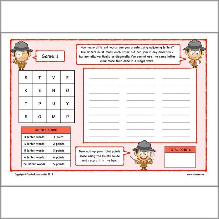PlanBee Upper KS2 English Home Learning Activities for Year 5 & Year 6