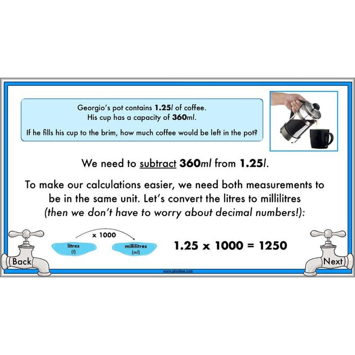 PlanBee Measuring Capacity Year 4 Maths Lesson Planning Pack